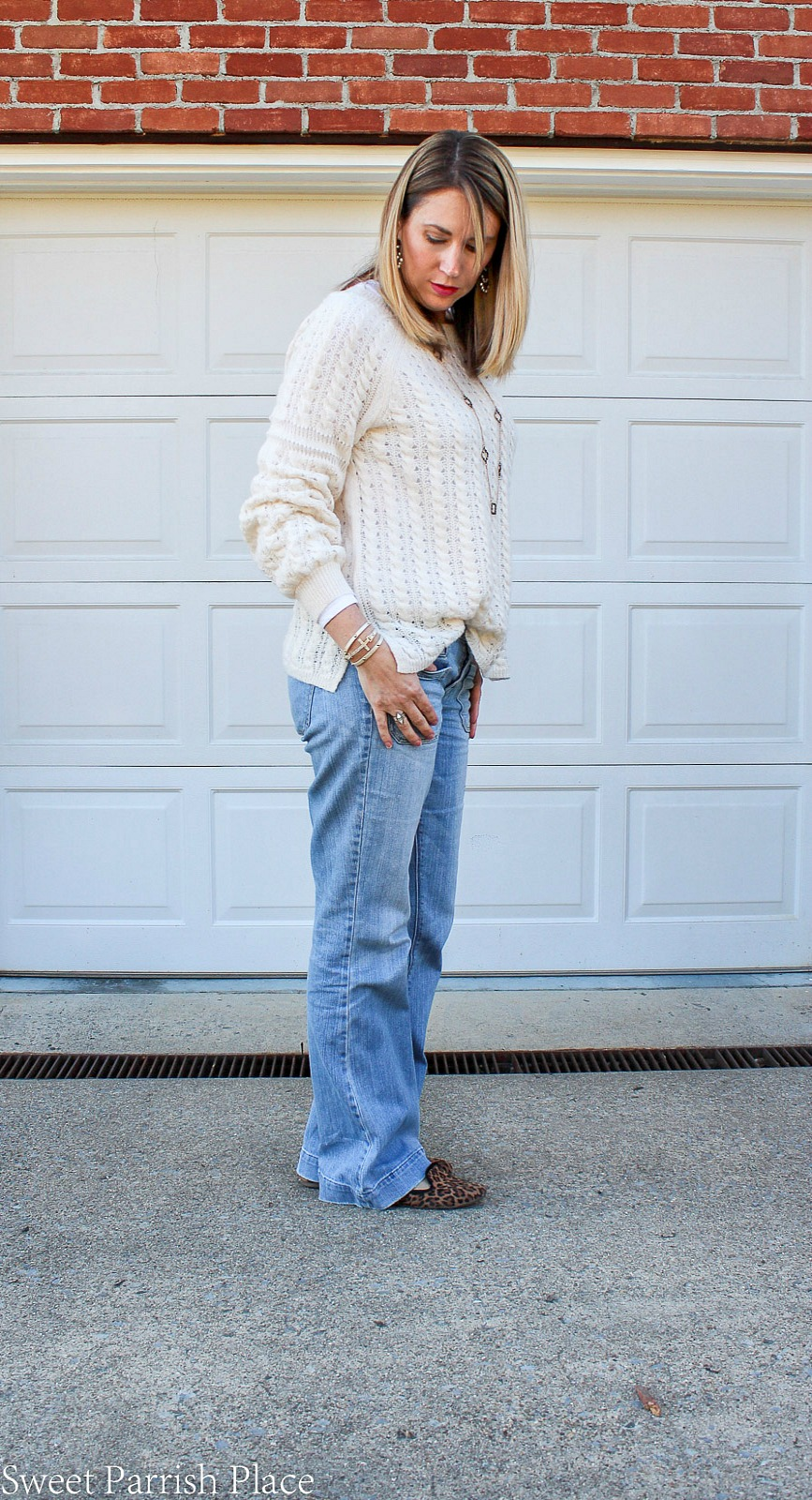 cream colored spring sweater