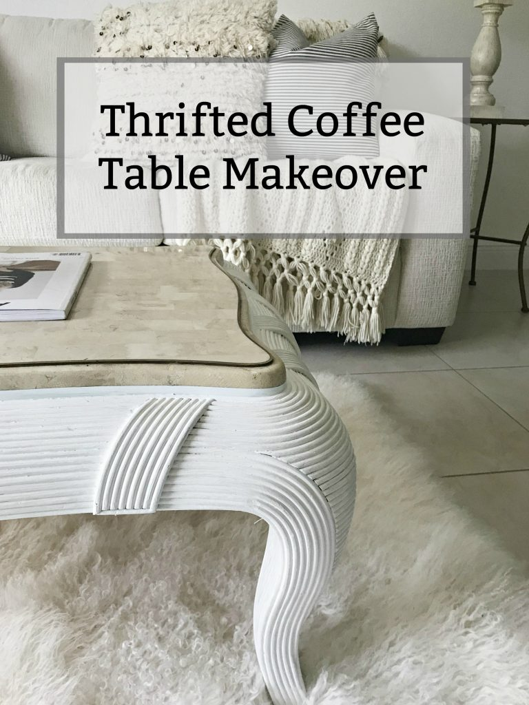 Thrifted Coffee Table Makeover | Trashtastic Treasures
