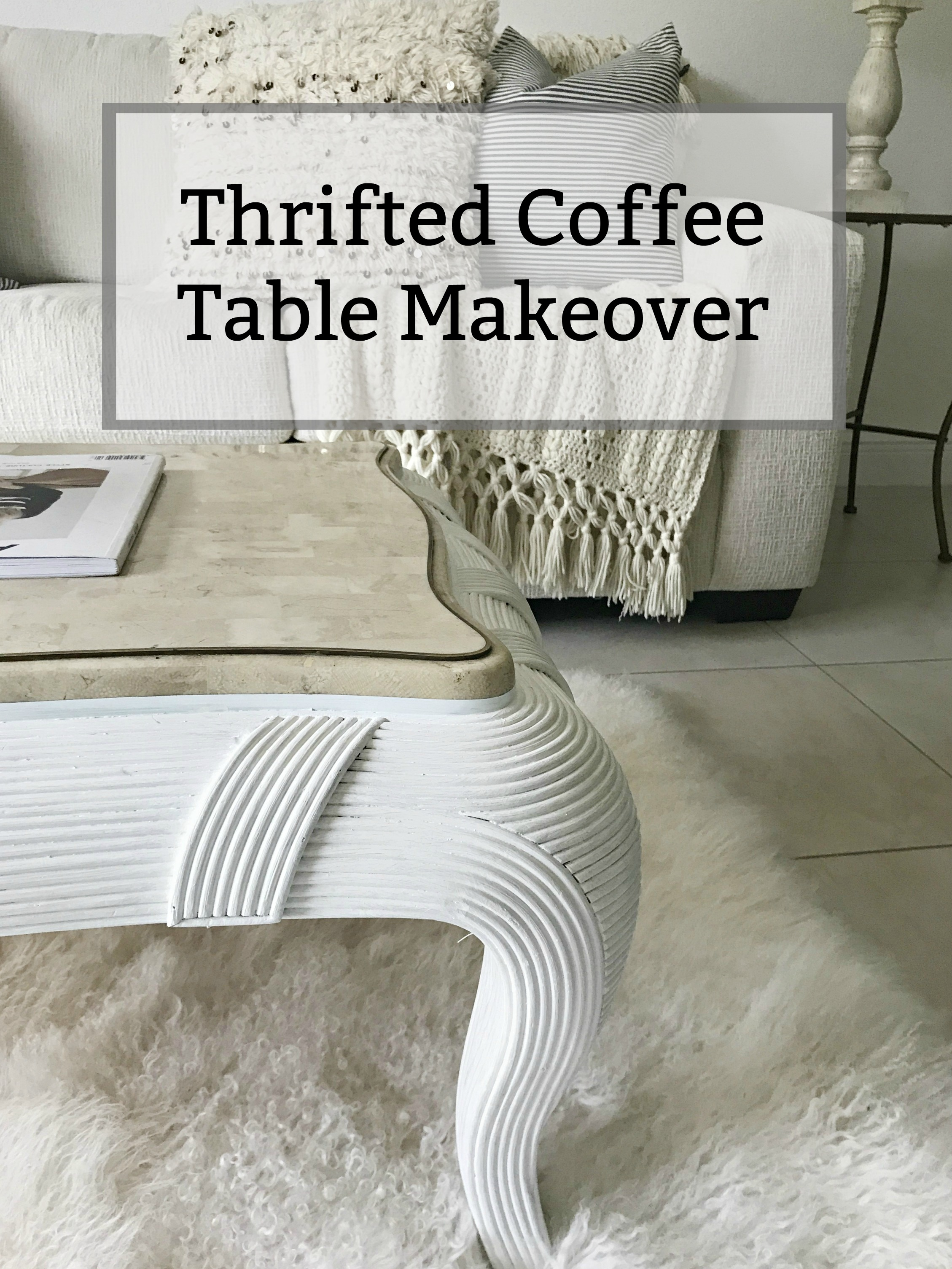 Today I'm sharing this cute thrifted coffee table makeover that I did for my daughter's new Miami apartment, and would you believe I paid $8 for it?