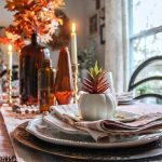 Cozy Blush And Amber Tablescape