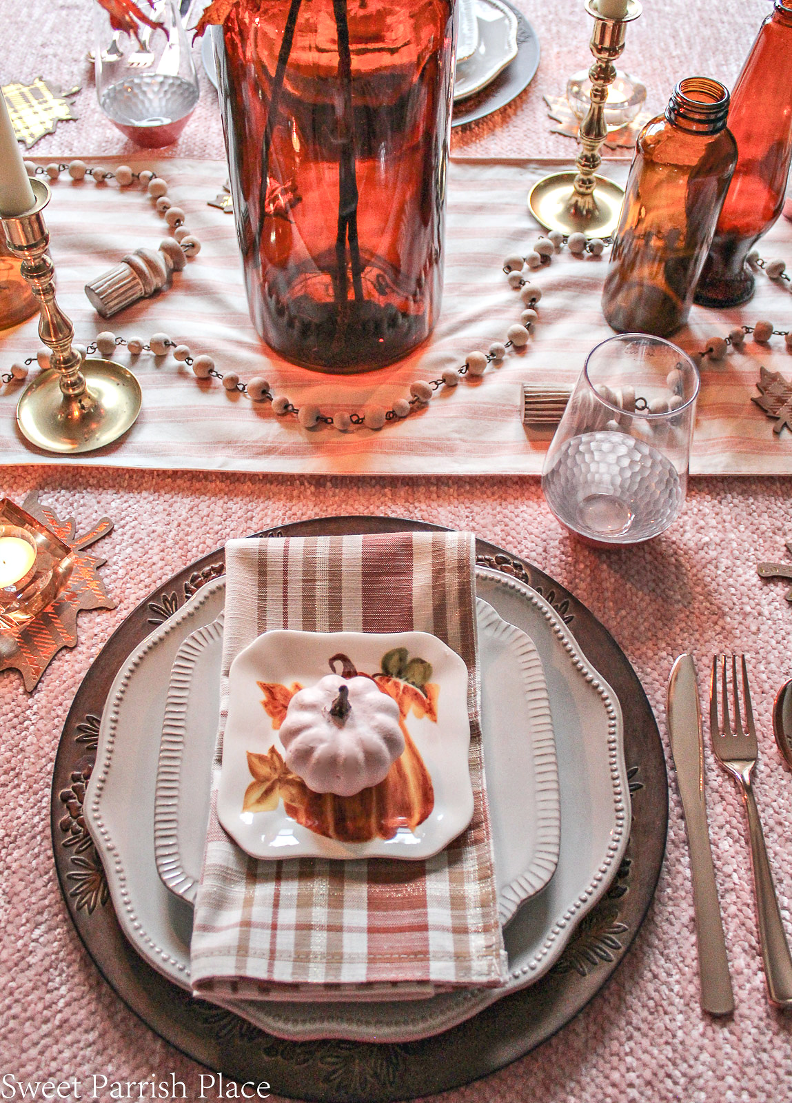 fall place setting for table