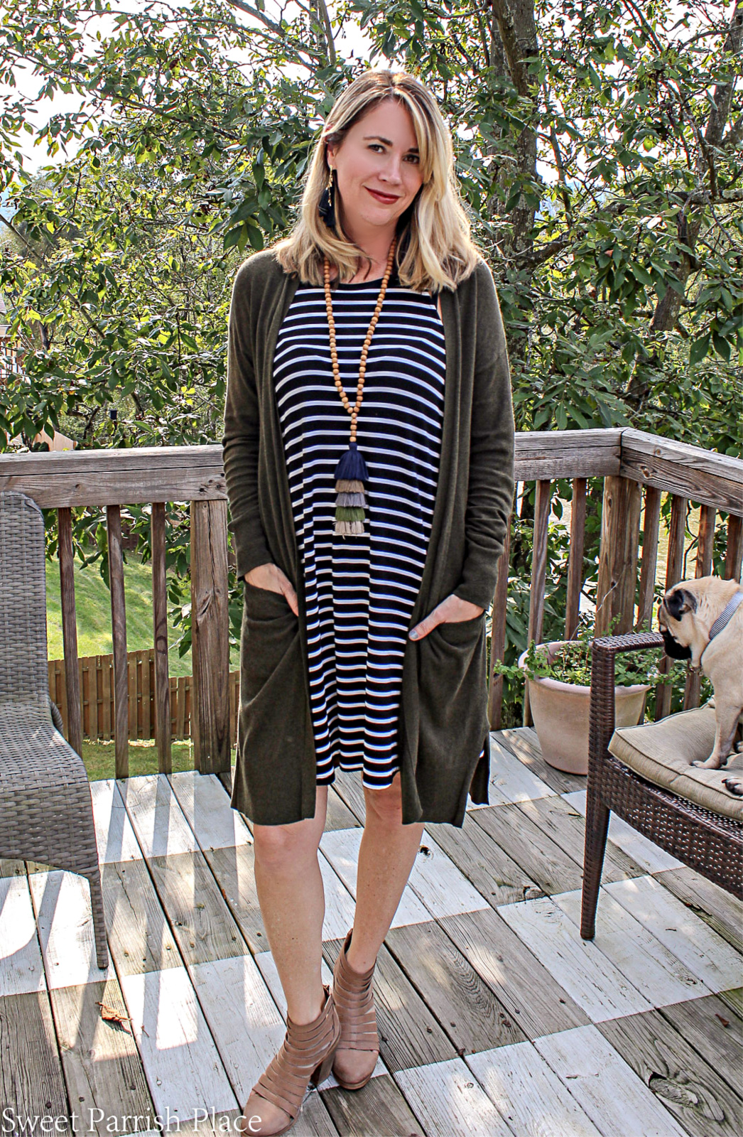 how to transition a summer dress to fall