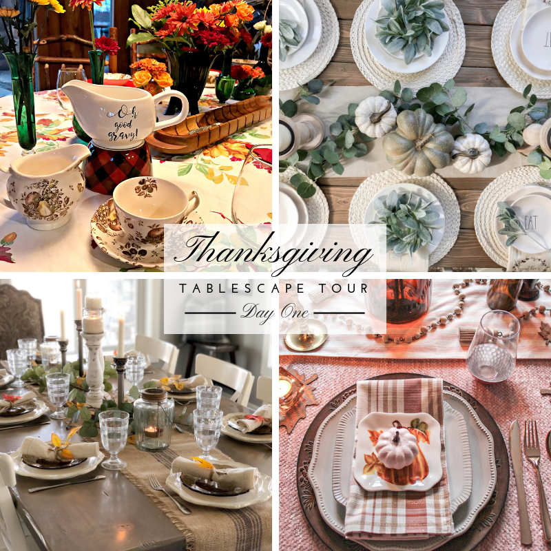 Thanksgiving tablescape tour day one