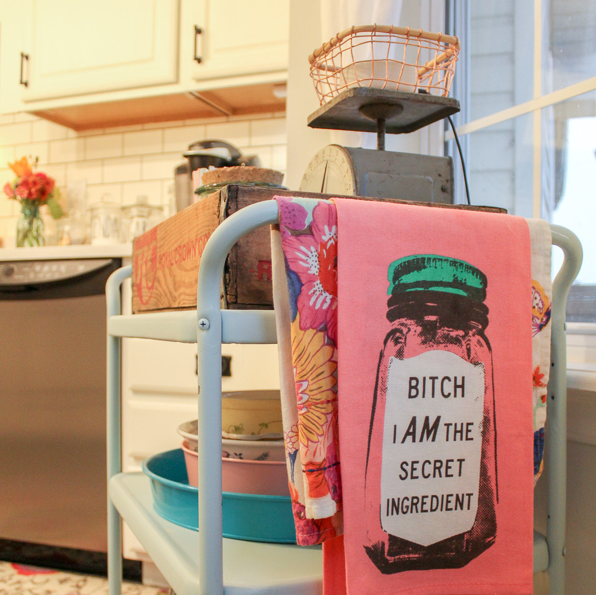 bitch i am the secret ingredient tea towel