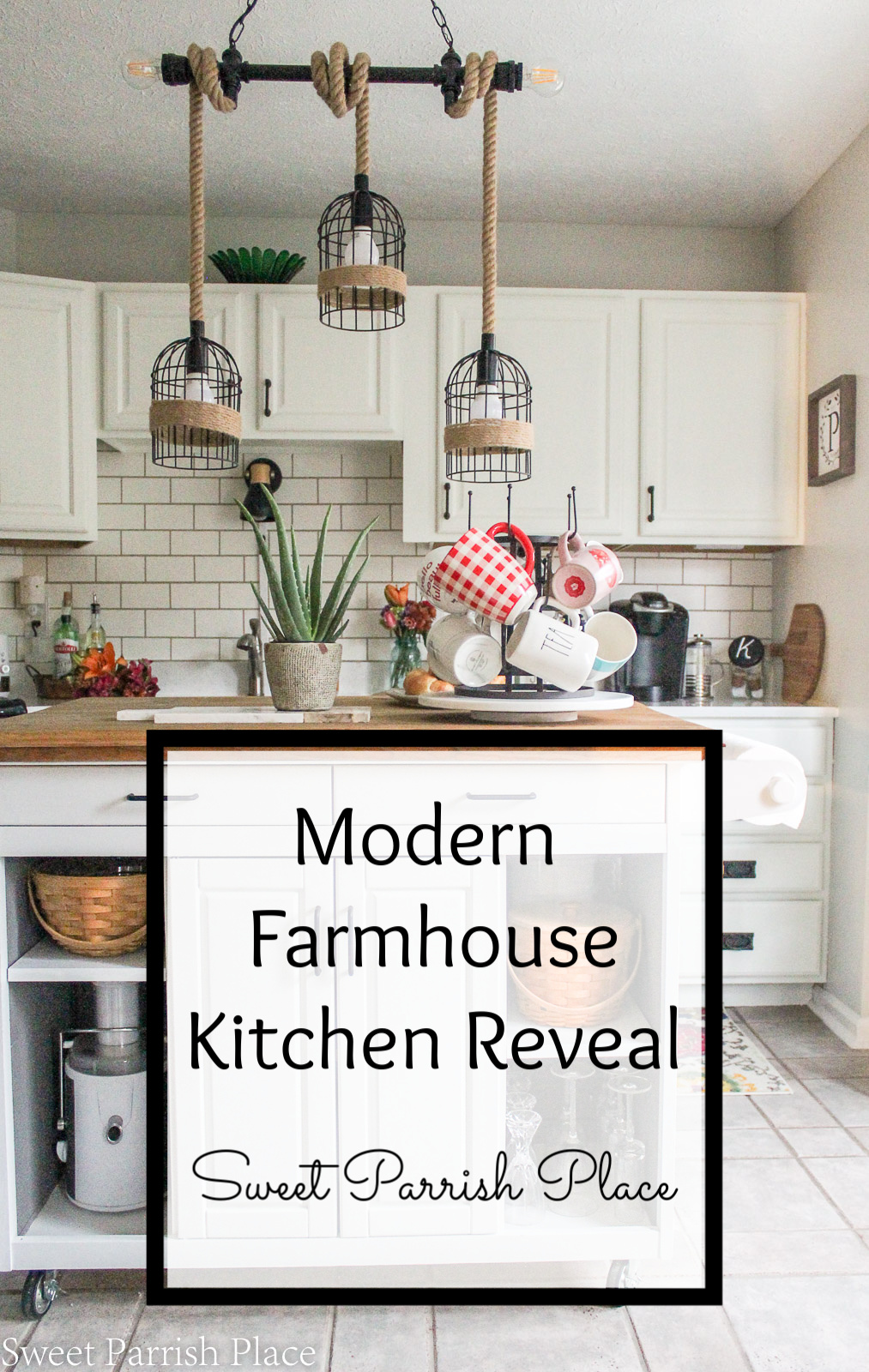 It's long overdue and over 6 weeks in the making, but I am so happy to reveal my modern farmhouse kitchen to you today!