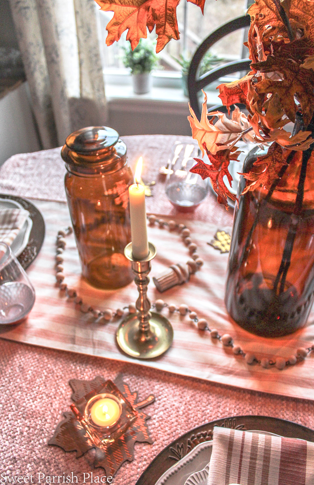 cozy fall tablescape