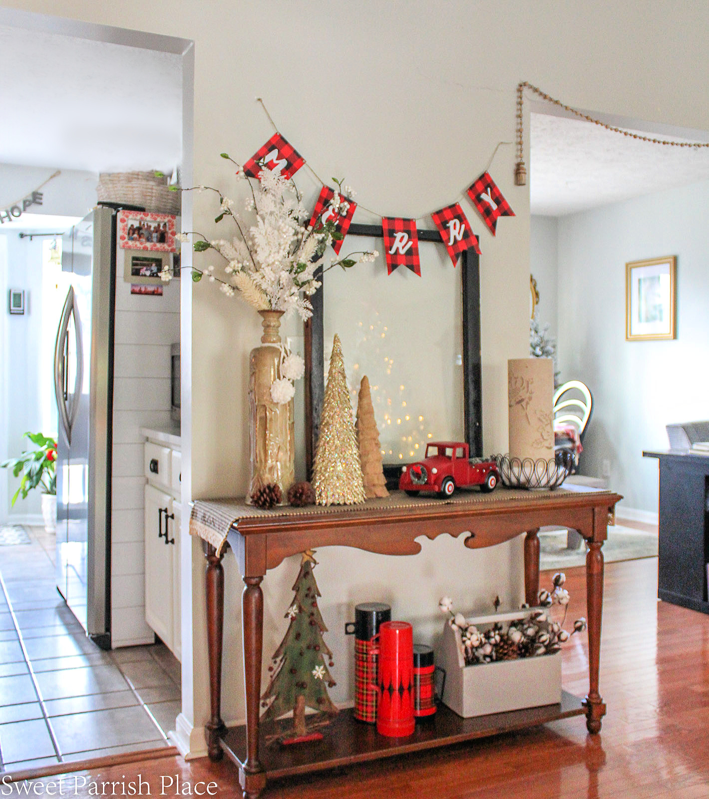 Christmas console table