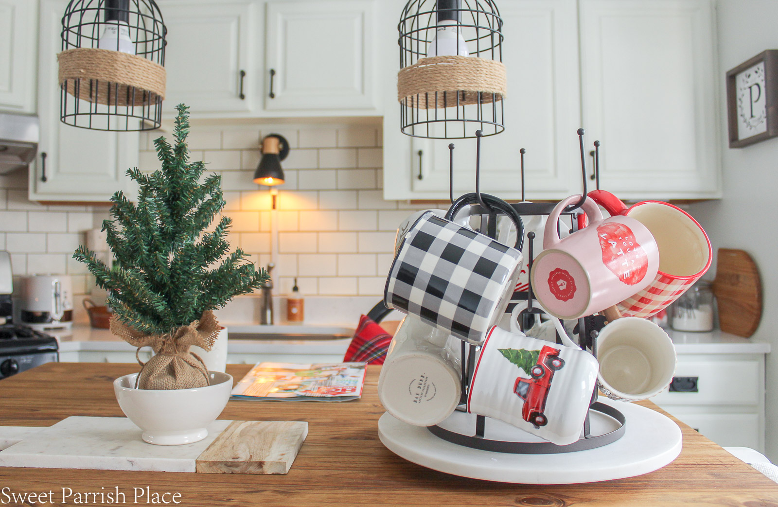 Christmas in my new kitchen- kitchen island