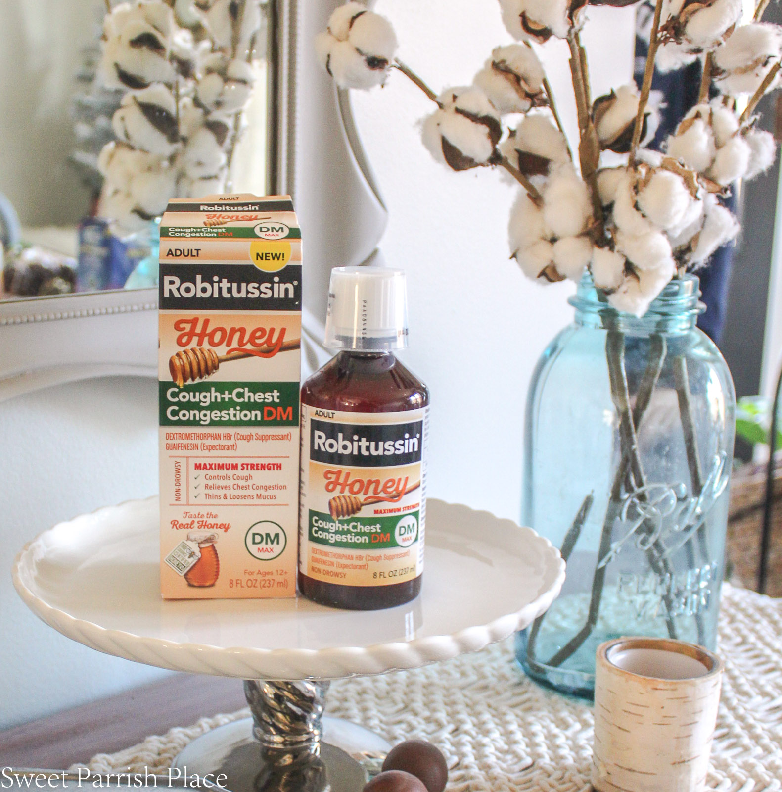 7 Self Care Tips For Sick Moms Robitussin honey