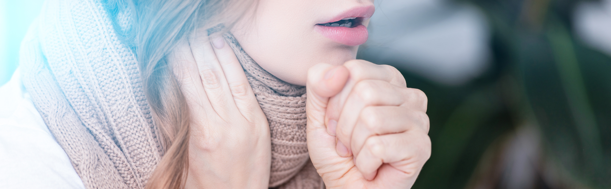 7 Self Care Tips For Sick Moms coughing woman