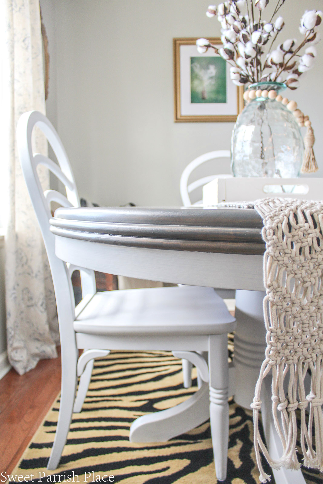 This weathered grey dining table makeover shows you how to take a beat up dining table and give it a fresh new finish. This tutorial shows you how.