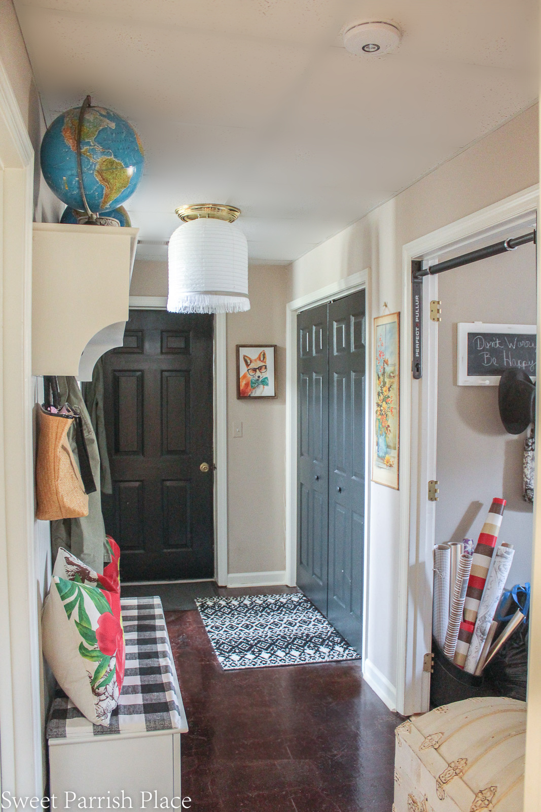 mudroom in downstairs hallway