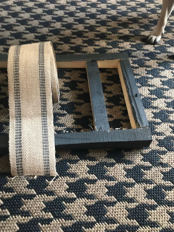 jute webbing and bench frame