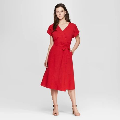 Universal thread midi wrap dress