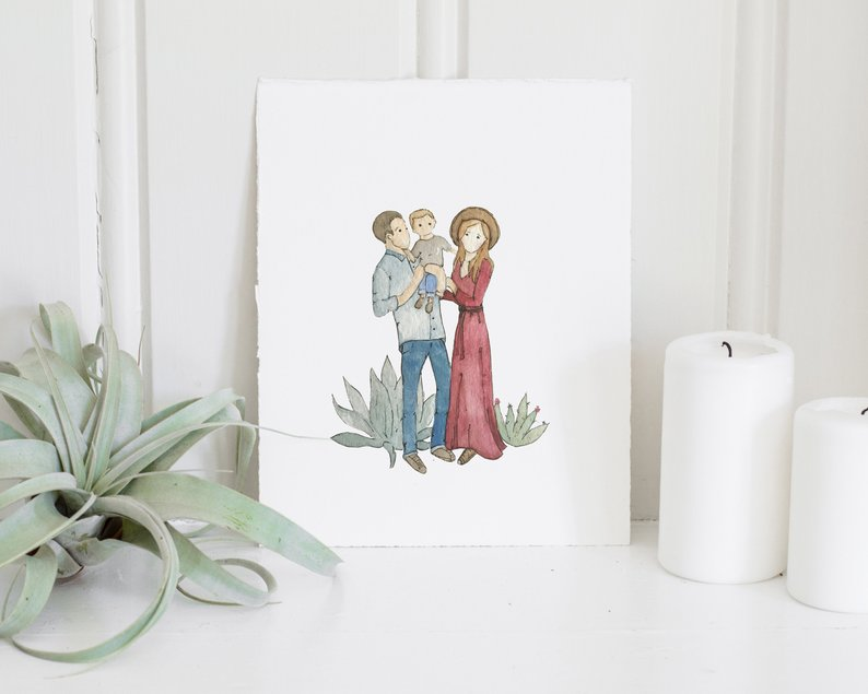 Custom family illustration Etsy