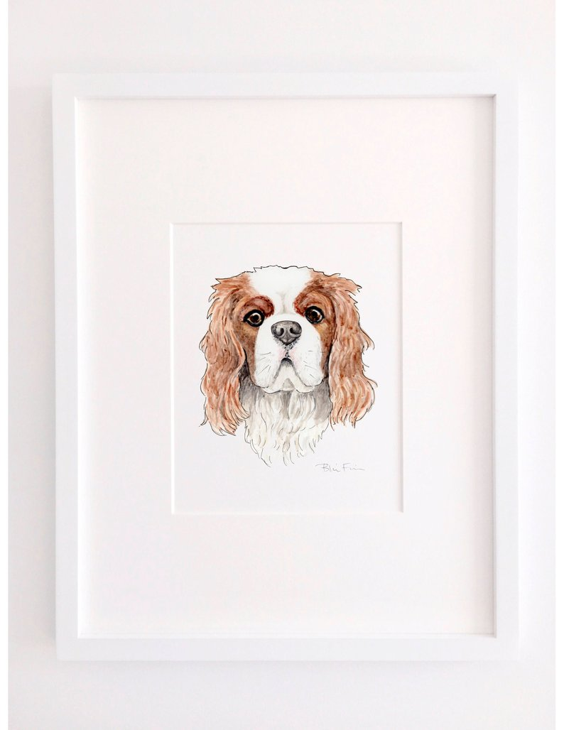 watercolor pet painting Etsy
