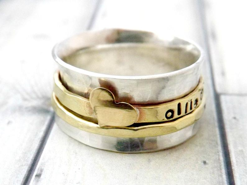 Spinner ring Etsy