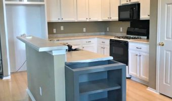 White Painted Cabinets   Fall One Room Challenge