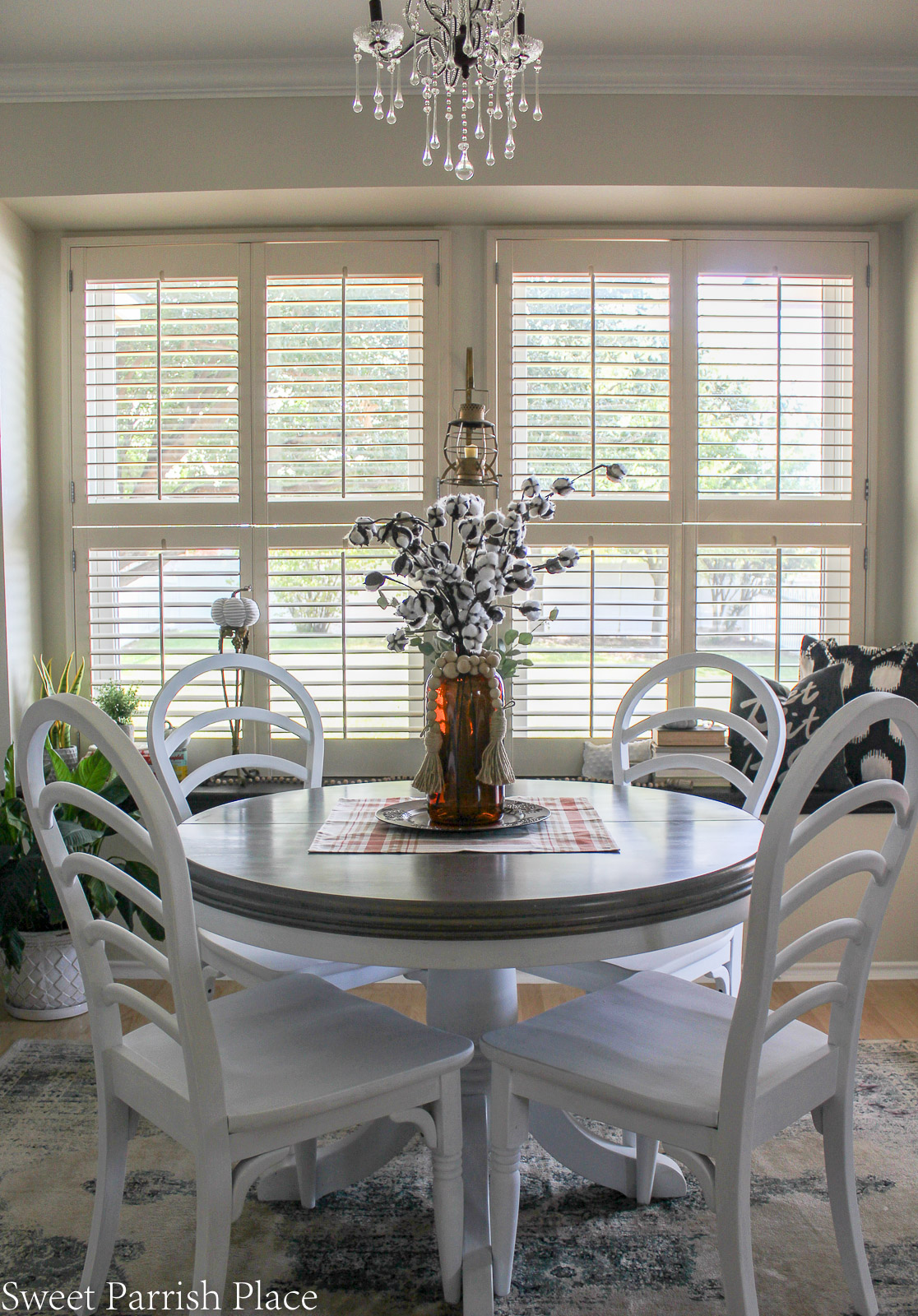 Prairie House kitchen reveal round dining table