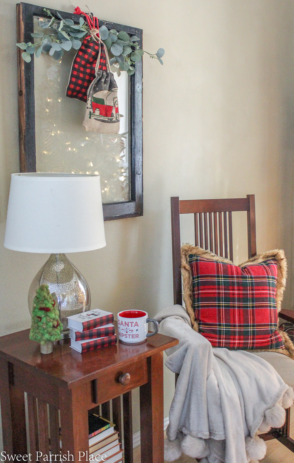 prairie house christmas tree side chair and table