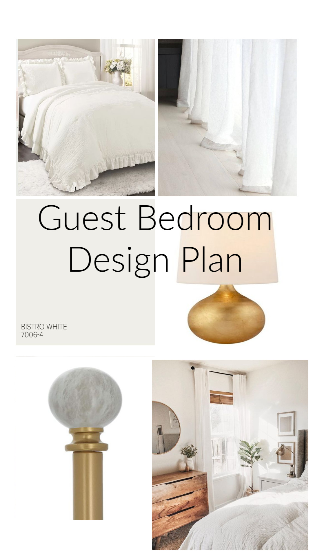 Guest Bedroom Reveal Design Plan