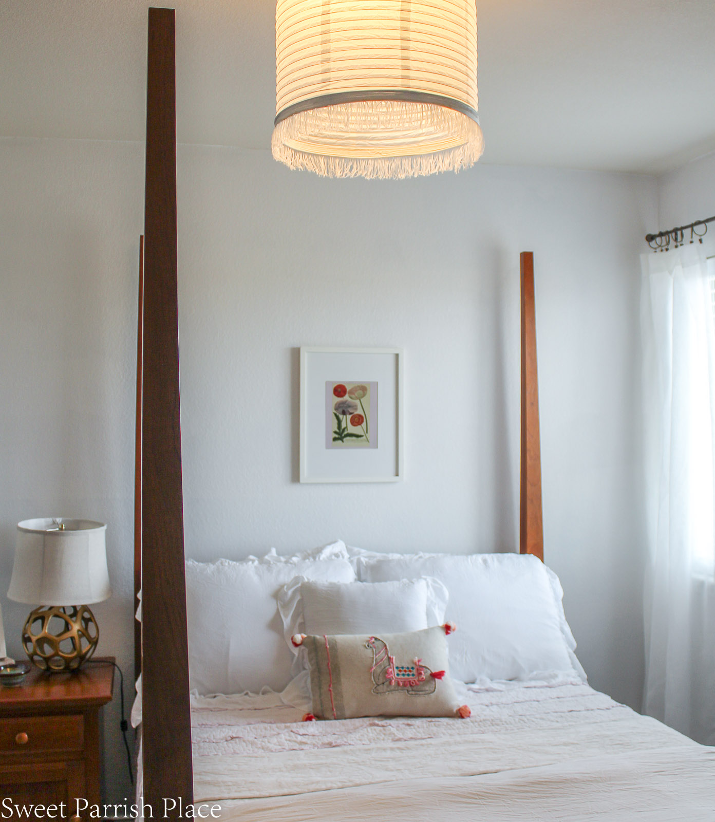 Guest Bedroom Reveal ceiling light