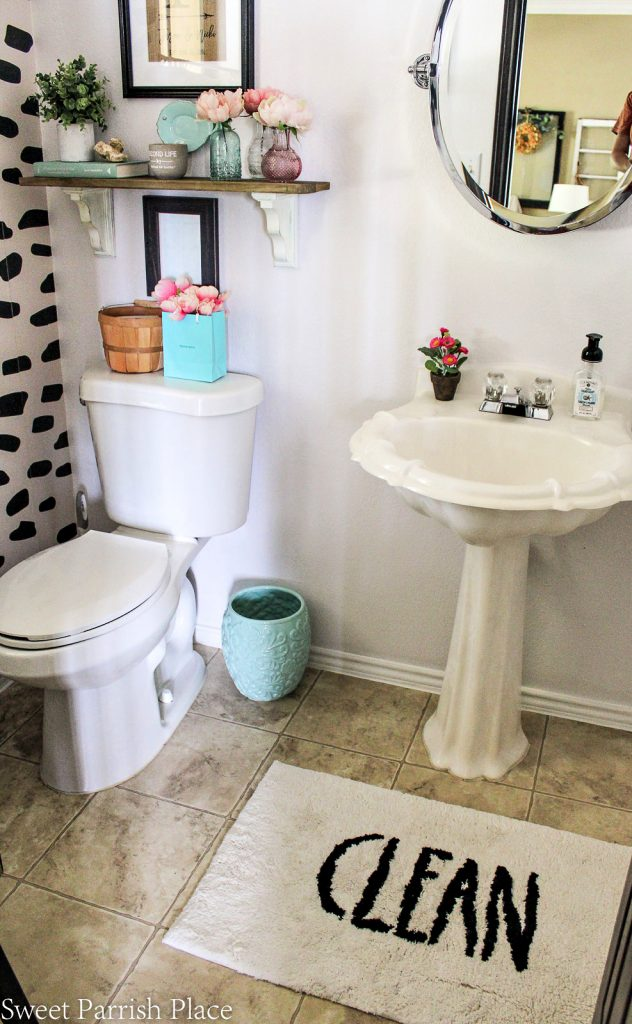 view of powder room refresh