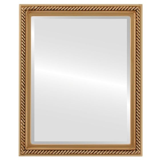 gold framed rectangle mirror