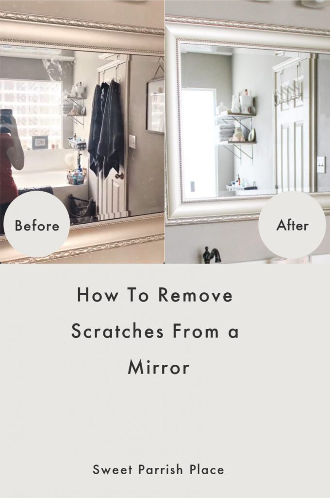 how to remove scratches from a mirror-Pinterest Pin