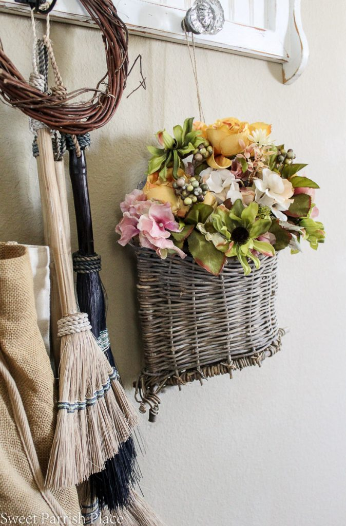 fall florals in basket