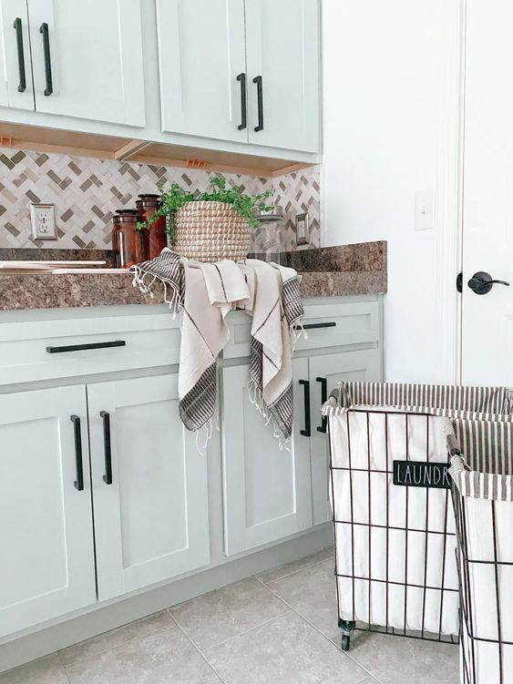 sea salt painted cabinets